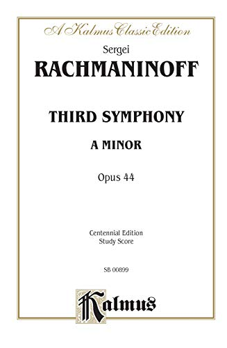 Third Symphony in A Minor, Op. 44: Centennial Edition, Comb Bound Study Score (Belwin Edition): ...