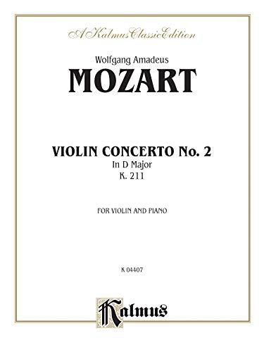 9780769278582: Violin Concerto No. 2, K. 211 (Kalmus Edition)