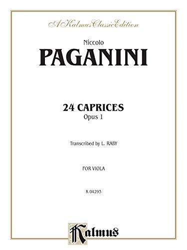 9780769279602: Twenty-four Caprices, Op. 1: Transcribed for Viola Solo (Kalmus Edition)