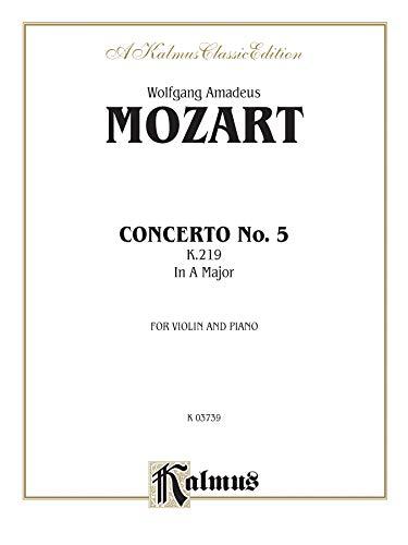 9780769281803: Violin Concerto No. 5, K. 219 (Kalmus Edition)