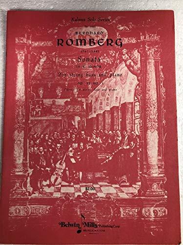 9780769281919: Sonata in E Minor, Op. 38, No. 1 (Kalmus Edition)