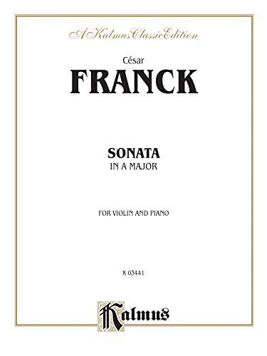 9780769282978: Sonata in A Major for Violin and Piano (Kalmus Edition)