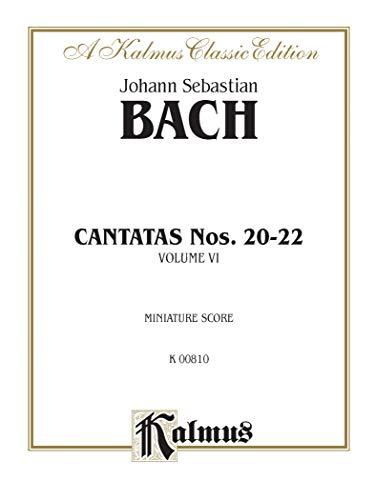 9780769283364: Cantatas No. 20-22: Miniature Score (German Language Edition), Miniature Score (Kalmus Edition) (German Edition)
