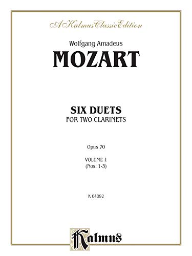 9780769283395: Six Duets, Vol 1: Nos. 1-3 (Kalmus Edition)