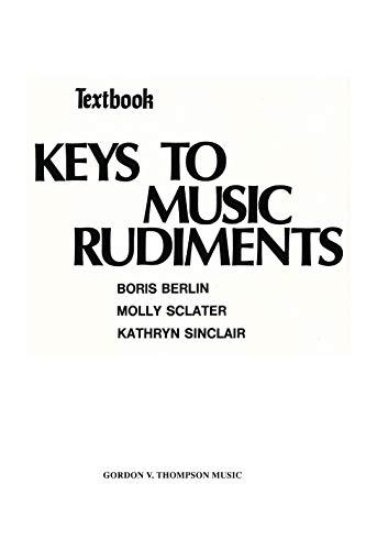 9780769283500: Keys to Music Rudiments: Textbook
