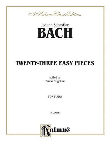 9780769283555: Bach Mugellini 23 Easy Pieces Piano Solos