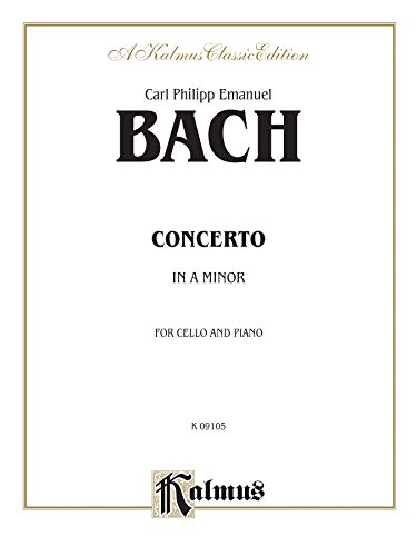 Cello Concerto in A Minor (Kalmus Edition): Alfred Music