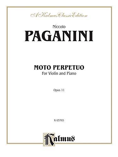 Moto Perpetuo, Op. 11 (Kalmus Edition): Richard Stover (Editor),