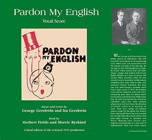 9780769292014: Pardon My English - Vocal Score