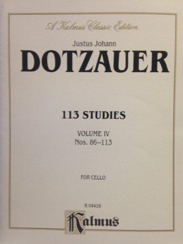 9780769293615: 113 Studies, Vol 4 (Kalmus Edition)