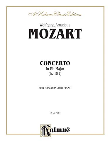 9780769293998: Bassoon Concerto, K. 191 (Orch.): Part(s) (Kalmus Edition)