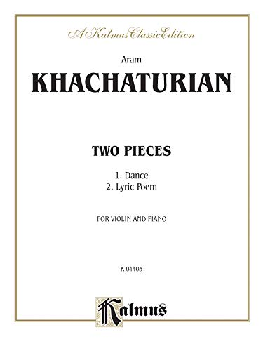 Two Pieces: Khachaturian, Aram (COP)