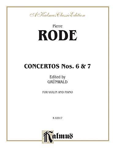 9780769294797: Concertos Nos. 6 and 7 (Kalmus Edition)