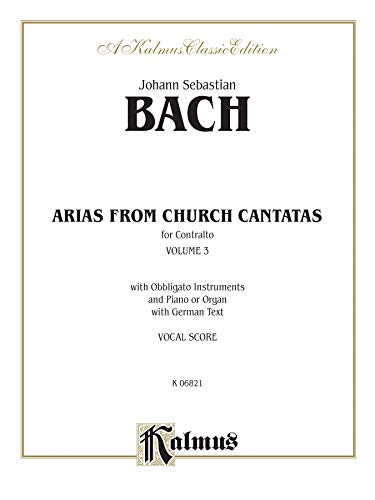Contralto Arias, Vol 3: 6 Sacred (German: Bach
