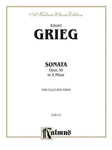 9780769295794: Cello Sonata in a Minor, Op. 36 (Kalmus Edition)
