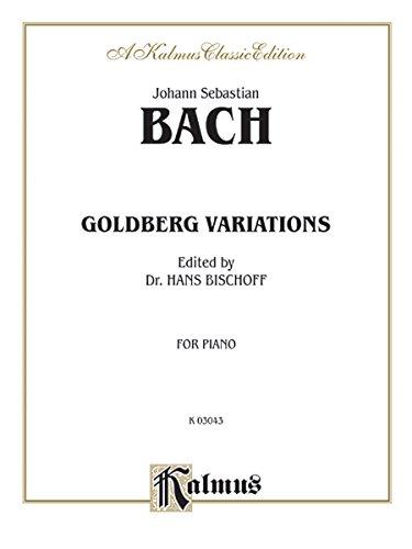 9780769297255: Goldberg Variations (Kalmus Edition)