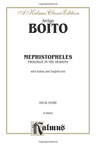 9780769297279: Prologue to Mephistopheles: Vocal Score, Vocal Score (Kalmus Edition)