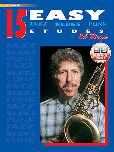 9780769297927: 15 Easy Jazz, Blues & Funk Etudes: B-flat Tenor Sax, Book & CD (Instrumental Series)