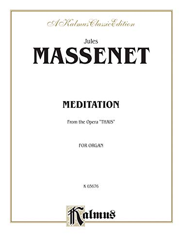 Meditation from the Opera Thais: Sheet (Paperback)