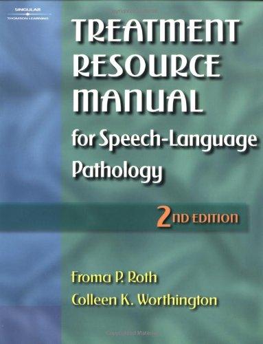 9780769300184: Treatment Resource Manual for Speech-Language Pathology