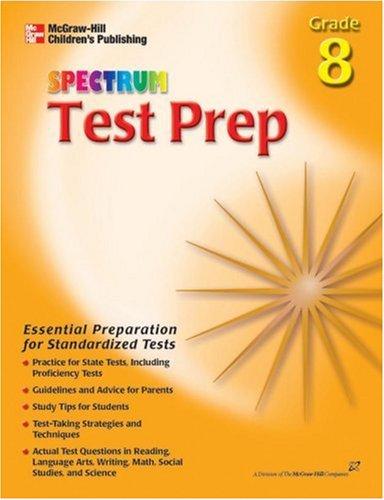 9780769630588: Spectrum Test Prep, Grade 8