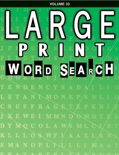 9780769631974: Large Print Word Search Book