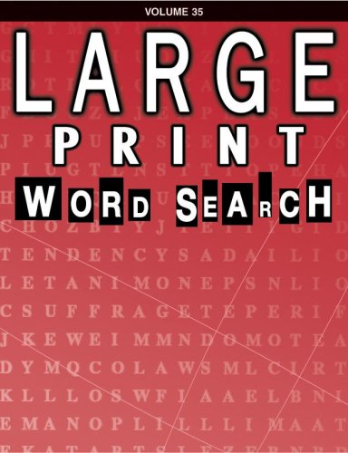 9780769631998: Large Print Word Search Book
