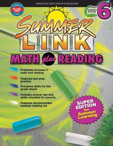 9780769633350: Summer Link Math plus Reading, Summer Before Grade 6