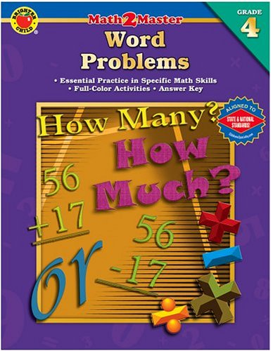 9780769639246: Math 2 Master Word Problems; Grade 4 (Brighter Child: Math 2 Master)