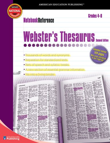 9780769643441: Webster's Thesaurus, Grades 4 - 8: Second Edition (Notebook Reference)