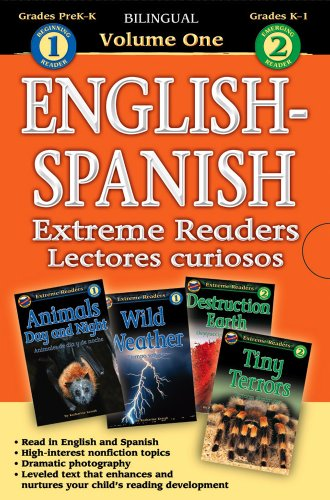 9780769644790: Extreme Readers English-Spanish 4-in-1, Level 1-2 (English and Spanish Edition)