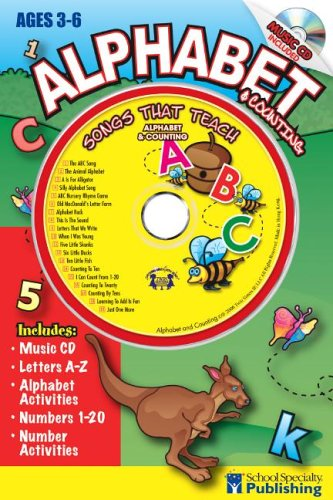 9780769645728: Alphabet and Counting Sing Along Activity Book with CD: Songs That Teach Alpabet