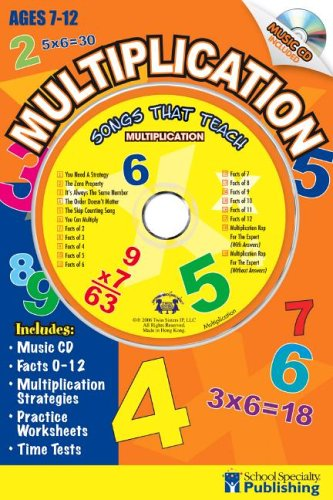 9780769645735: Multiplication Sing Along Activity Book with CD: Songs That Teach Multiplication (Songs That Teach Mathematics)