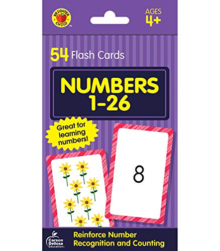 9780769647395: Numbers 1 to 26 (Brighter Child Flash Cards)