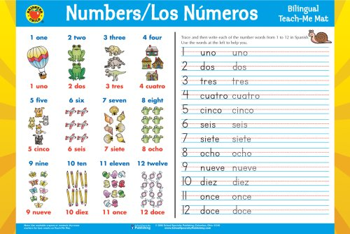 9780769648699: Los Numeros/Numbers Spanish-English Teach-Me Mat (Brighter Child: Edu-Mats (Bilingual))
