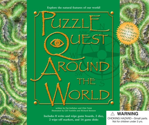 9780769648750: Puzzle Quest Around the World [With 2 Dice and 8 Game Boards, 2 Wipe-Off Markers and 16 Game Disks] (Puzzle Quest Board Game Books)