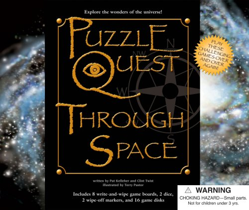 9780769648774: Puzzle Quest Through Space [With 2 Dice and 2 Wipe-Off Markers & 16 Game Disks and 8 Write/Wipe Game Boards] (Puzzle Quest Board Game Books)