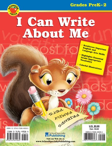 9780769649085: I Can Write About Me (Brighter Child I Can...) pre k-2
