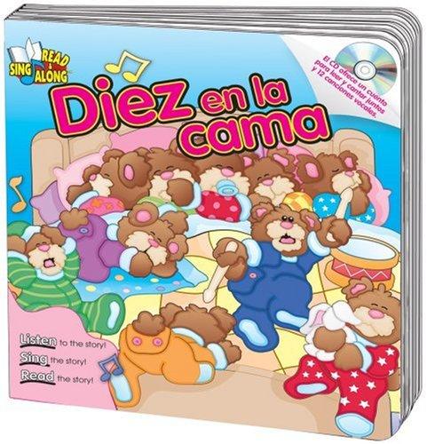 9780769649368: Diez en la cama (Ten in the Bed) Read & Sing Along Board Book With CD (Read & Sing Along Board Books with CDs) (Spanish Edition)