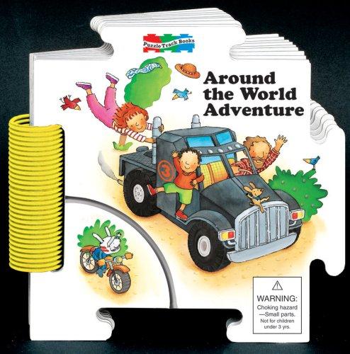 Around the World Adventure Puzzle Track Book (Puzzle Track Books): Carson-Dellosa Publishing