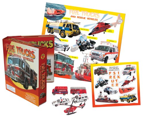 9780769657950: Fire Trucks and Rescue Vehicles Vehicle Play Set