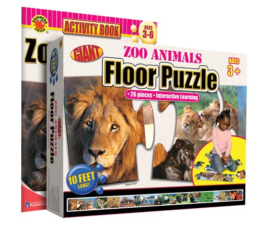 9780769658063: Zoo Animals Floor Puzzle [With Activity Book] (Brighter Child Giant Floor Puzzles)
