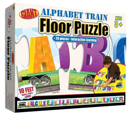 9780769658223: Alphabet Train Giant Floor Puzzle (Brighter Child Giant Floor Puzzles)