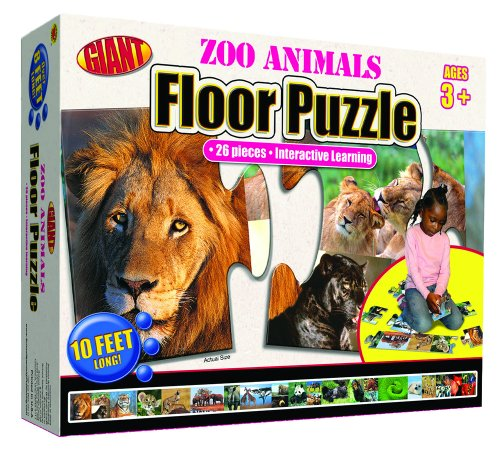 9780769658278: Zoo Animals Giant Floor Puzzle (Brighter Child Giant Floor Puzzles)