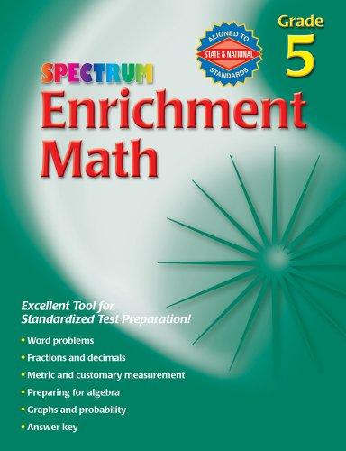 9780769659152: Spectrum Enrichment Math, Grade 5