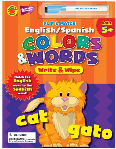 9780769662275: Flip and Match English/Spanish Colors and Words Write and Wipe (English and Spanish Edition)