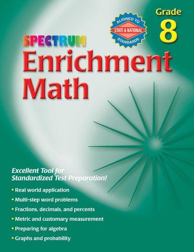 9780769663388: Spectrum Enrichment Math, Grade 8