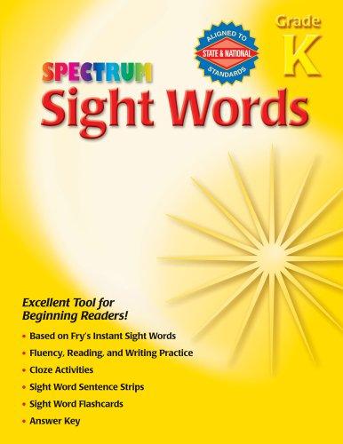 9780769666808: Spectrum Sight Words, Grade K