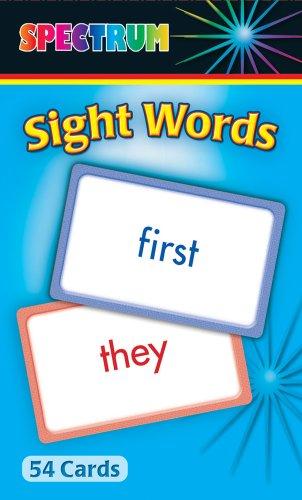 Sight Words Flash Cards: Spectrum