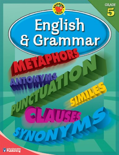 9780769676258: English and Grammar Grade 5 (Brighter Child Workbooks)